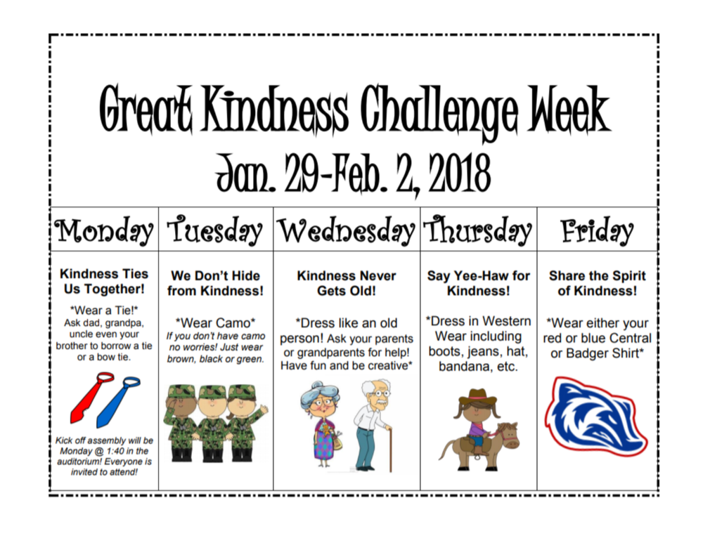 Great Kindness Challenge Week