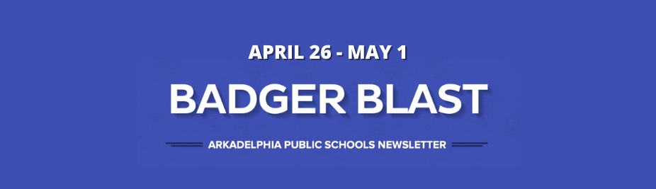 APSD Badger Blast: April 26 - May 1