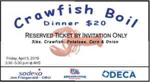 Tickets on Sale for 3rd Annual AHS DECA Crawfish Boil