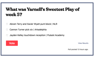 Vote for Yarnell's Sweetest Play of the Week