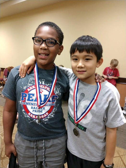 peake students at chess tournament