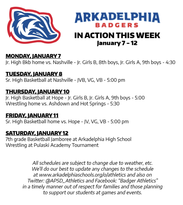 This Week in APSD Athletics: January 7-12