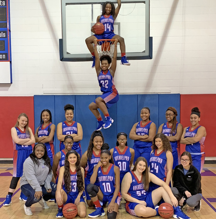 2018-19 AHS Lady Badger Basketball team