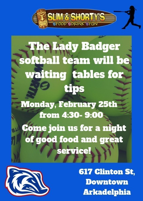 Lady Badger softball fundraiser