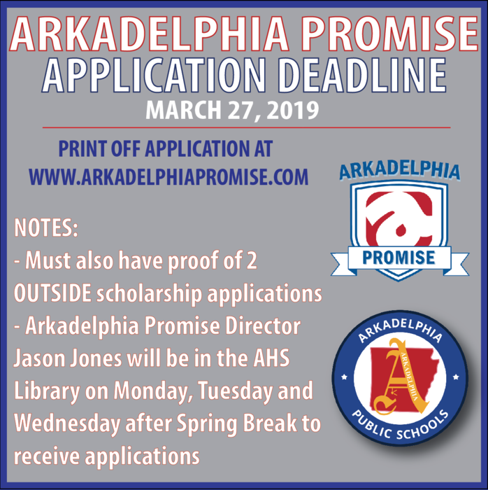 Arkadelphia Promise application deadline
