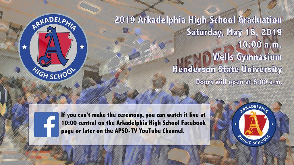 Has Graduation graphic - Saturday, May 18, 10:00 am
