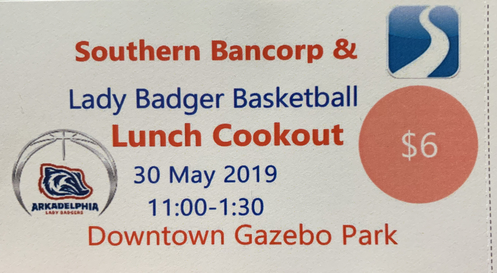 Lady Badger basketball cookout May 30.