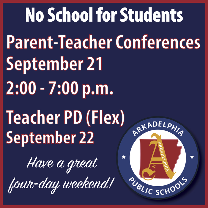 PARENT TEACHER CONFERENCES REMINDER FLYER