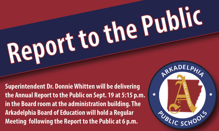 Report to the Public Meeting Flyer - September 19 at 5:15 p.m.