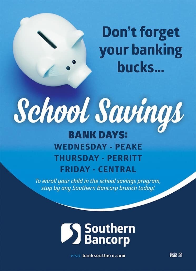 School savings flyer
