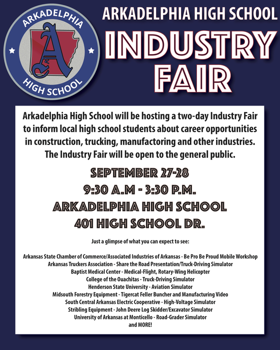 Industry Fair Flyer - Sept. 27 and 28 - 9:30am until 3:30pm