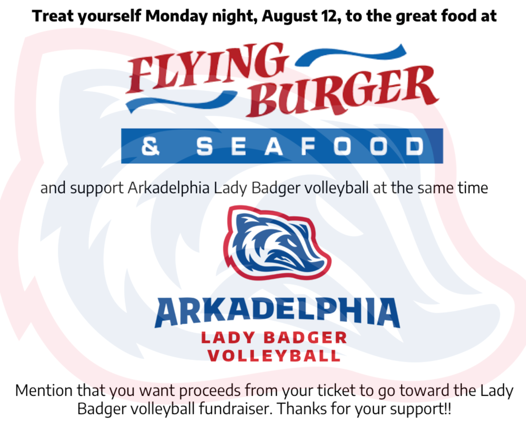 Lady Badger Volleyball Flying Burger fundraiser.