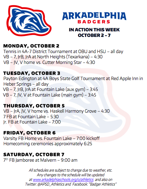 This Week in APSD Athletics: Oct. 2-7