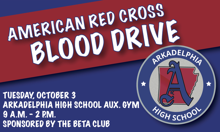 RED CROSS BLOOD DRIVE FLYER - OCT. 3