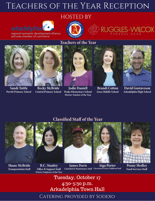 Teachers of the Year Reception Flyer