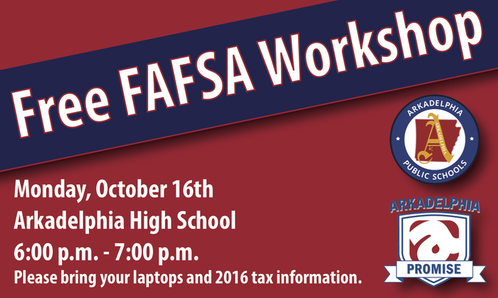 FAFSA Meeting Flyer at AHS