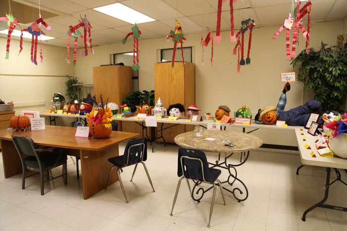 Pumpkins decorated by Central classes