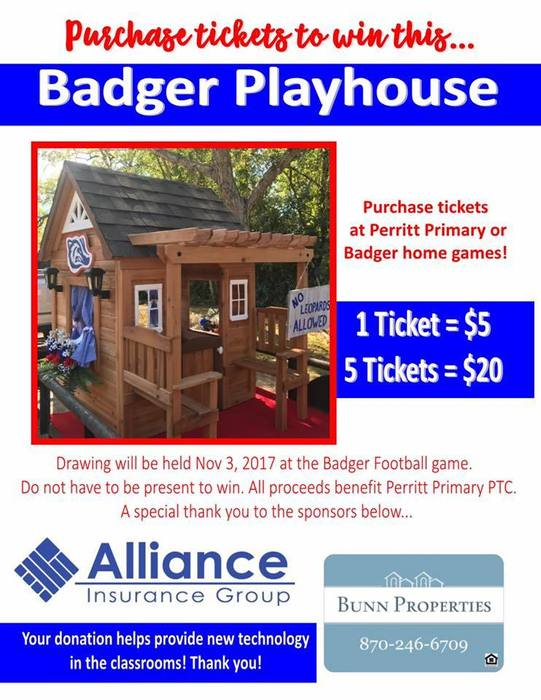 Badger Playhouse ticket flyers