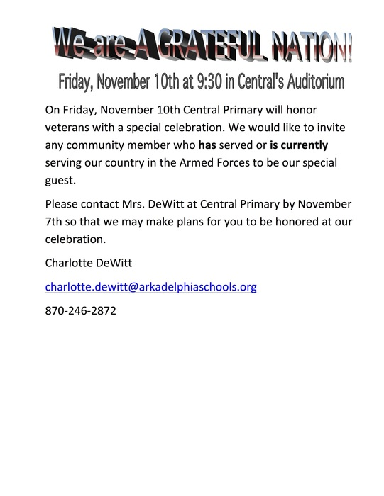 veterans day assembly flyer