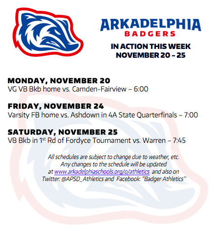 This Week in APSD Athletics: Nov. 20-25
