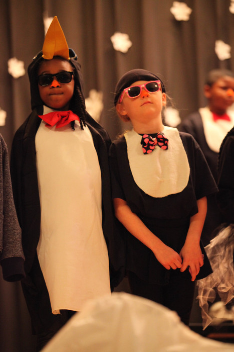 "Central students performing ""A Penguin Christmas"""