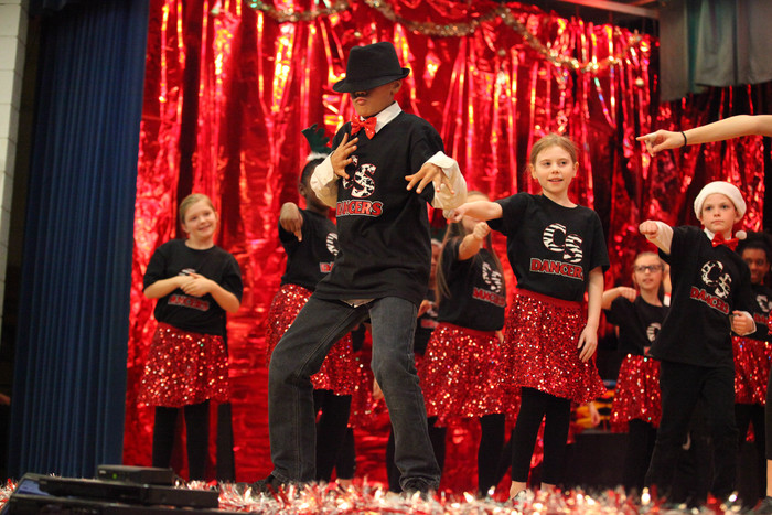 "Peake Students performing ""Broadway Santa"""