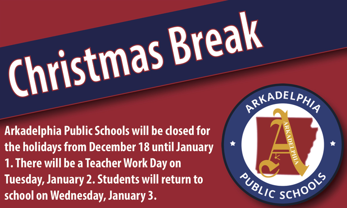 Christmas Break flyer - December 18-January 2