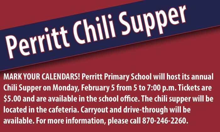 Perritt Chili Supper information flyer