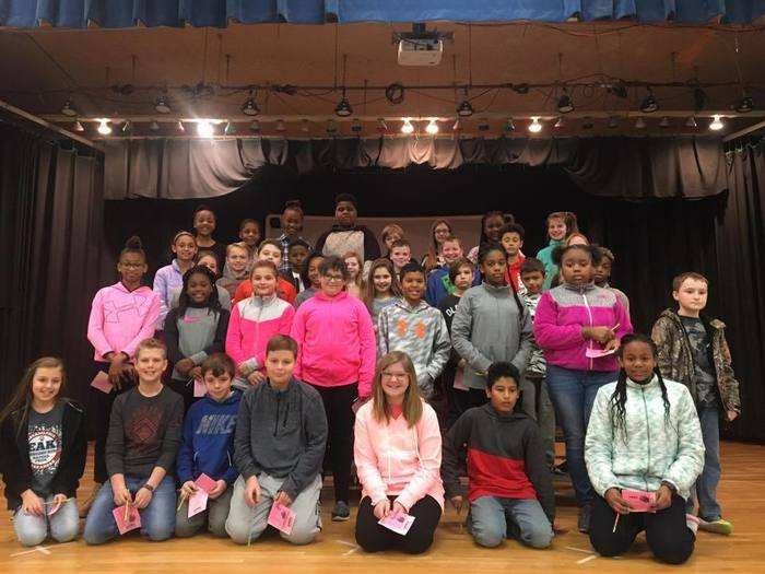 5th Grade AB Honor Roll Students at Peake Elementary