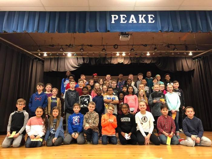 All A's 4th Grade at Peake Elementary