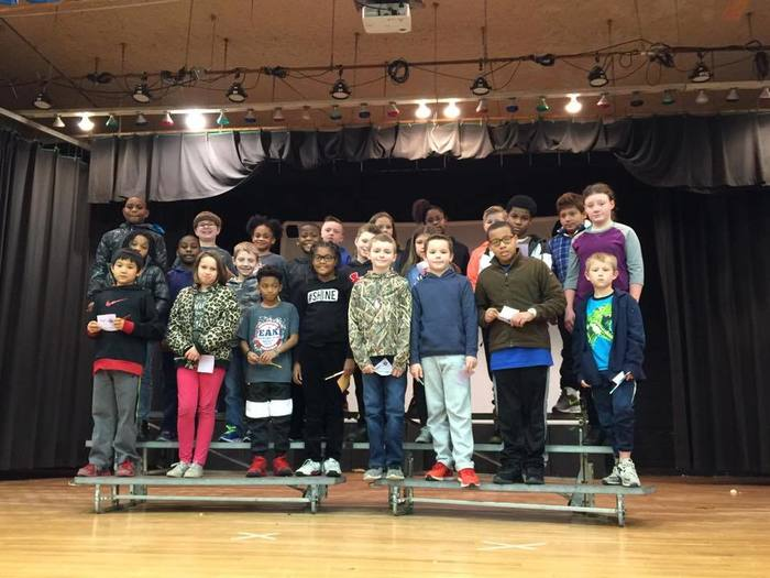 4th Grade Perfect Attendance group photo