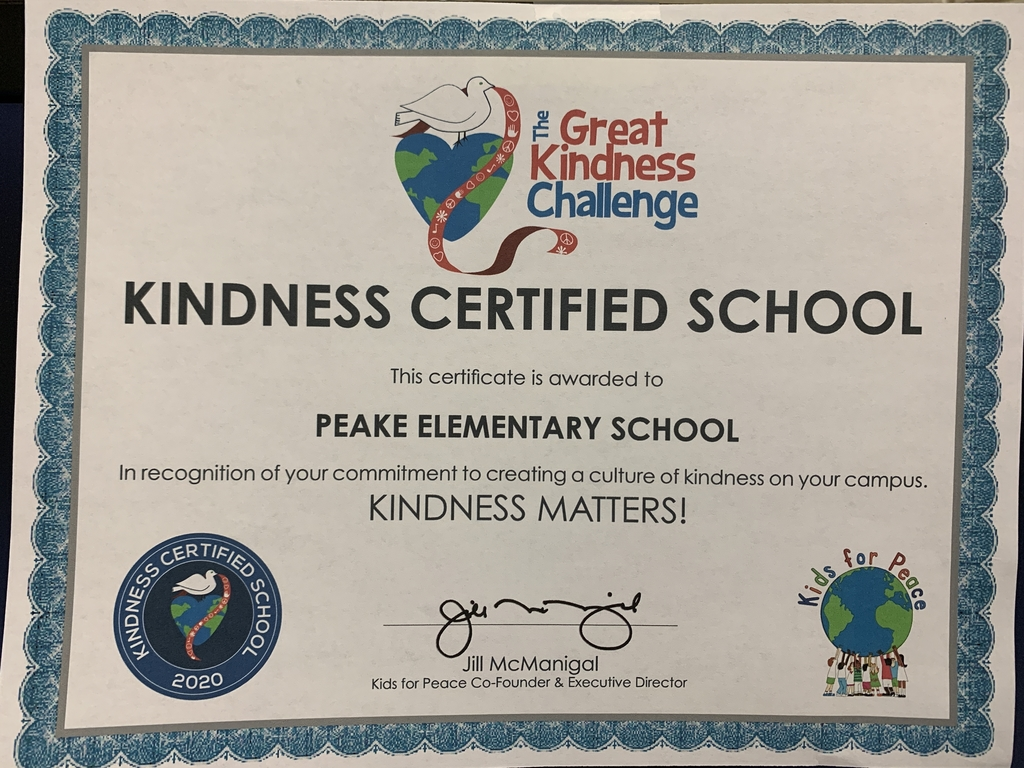 Our official certificate from The Great Kindness Challenge!!!