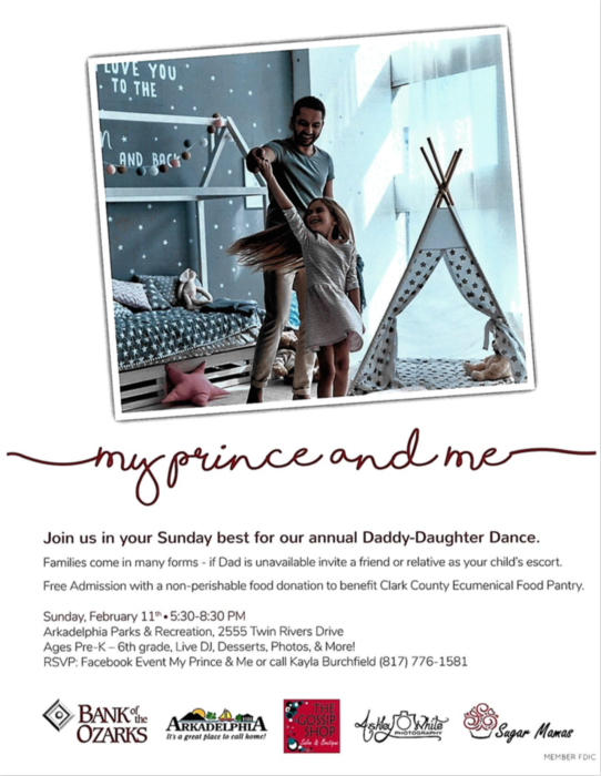 My Prince and Me Dance Flyer - Feb. 11