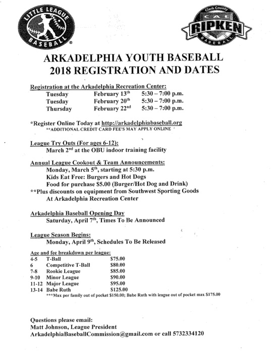 youth baseball registration form