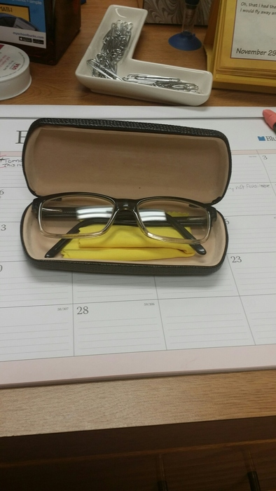 Prescription glasses found with case