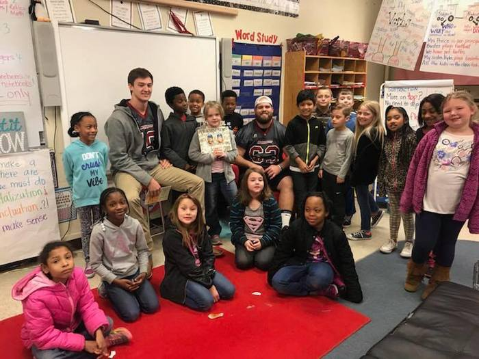 HSU students reading to Ms. Rodgers class