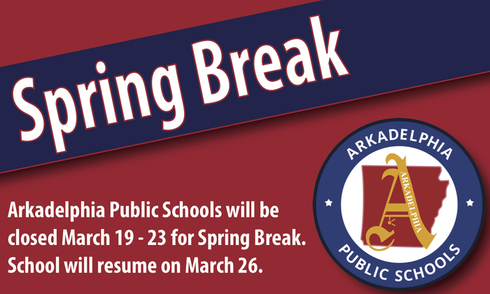 Spring Break flier- school will close March 19-23