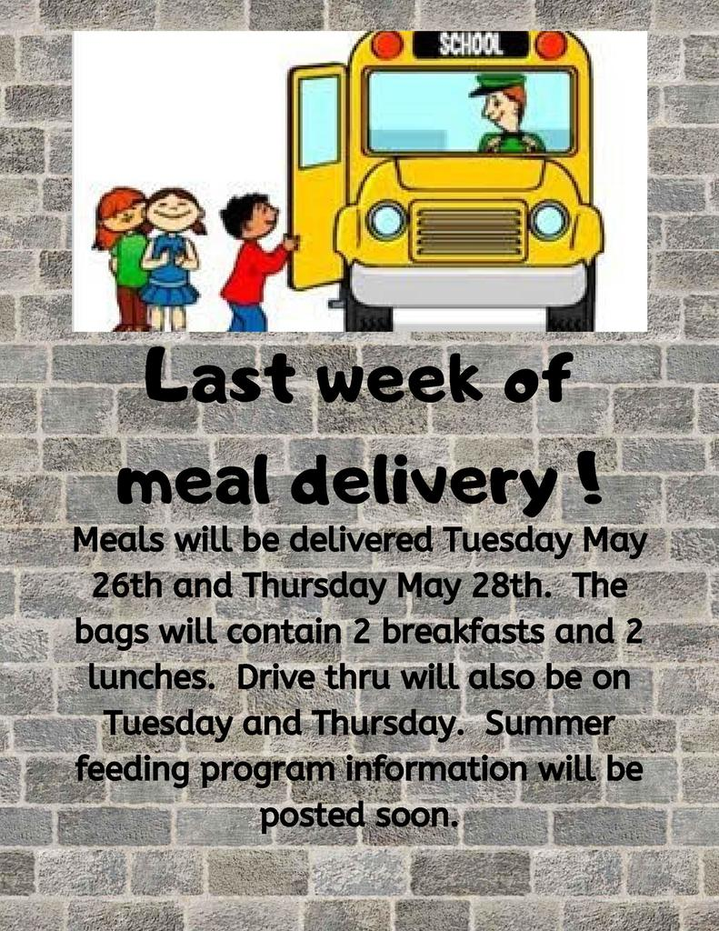meal delivery flyer