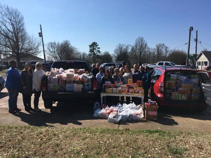 clark county employees with food drive items