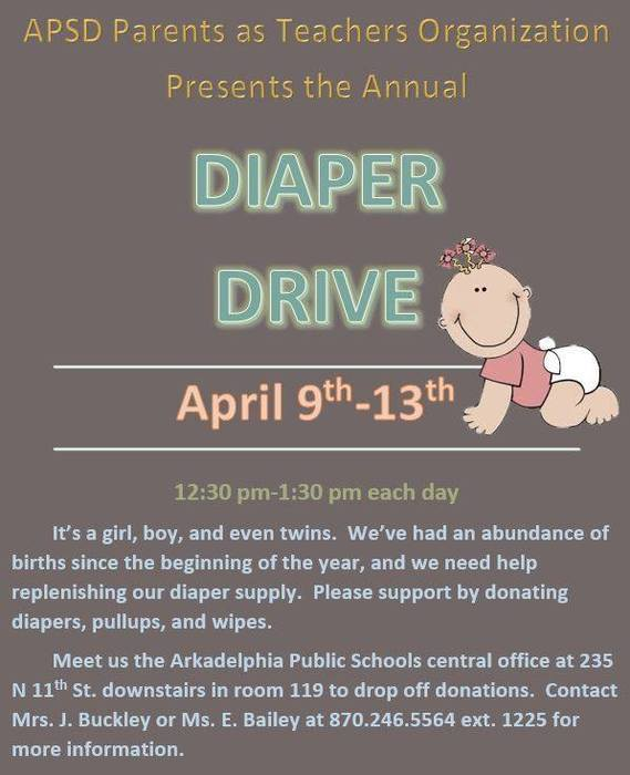 Parents as Teachers diaper drive flier