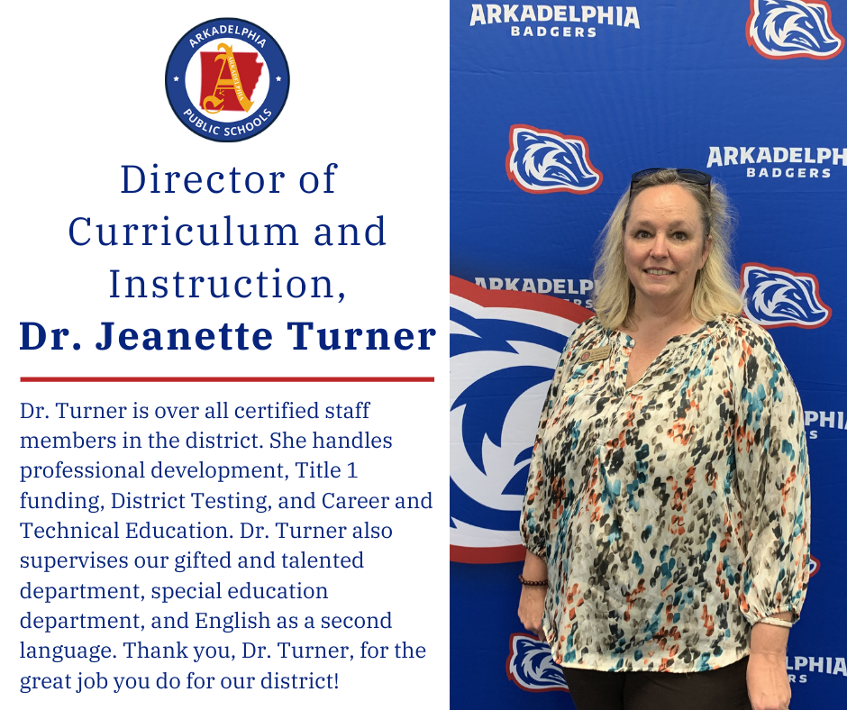 Dr. Jeanette Turner, Director of Curriculum and Instruction