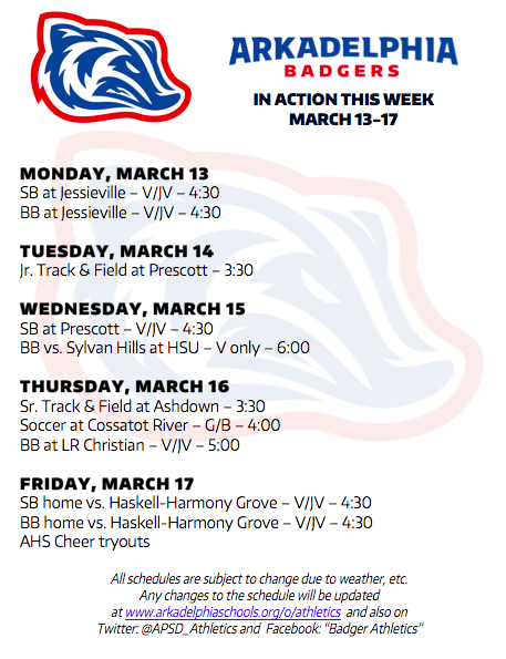 This Week in APSD Athletics: March 13-17