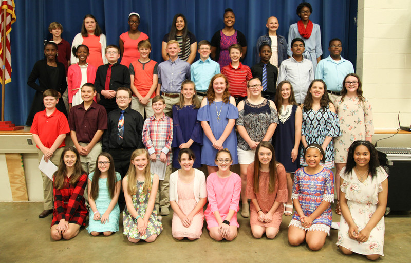 Goza inducts 35 National Junior Honor Society members