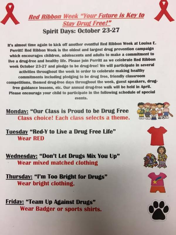 Perritt Primary School celebrates Red Ribbon Week