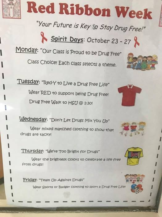 Central Primary School celebrates Red Ribbon Week