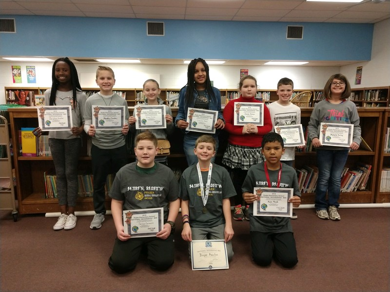 students who placed top 10 in geography bee