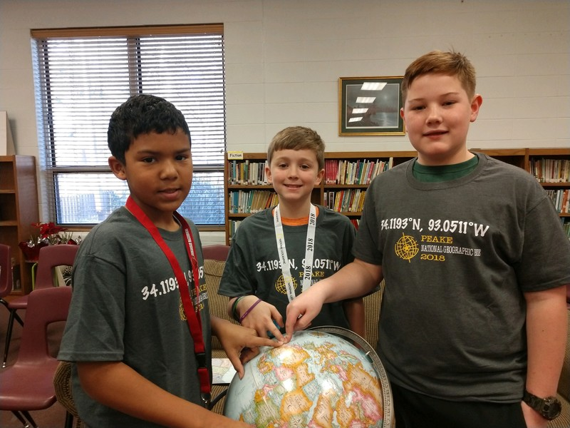 students who placed top three in geography bee