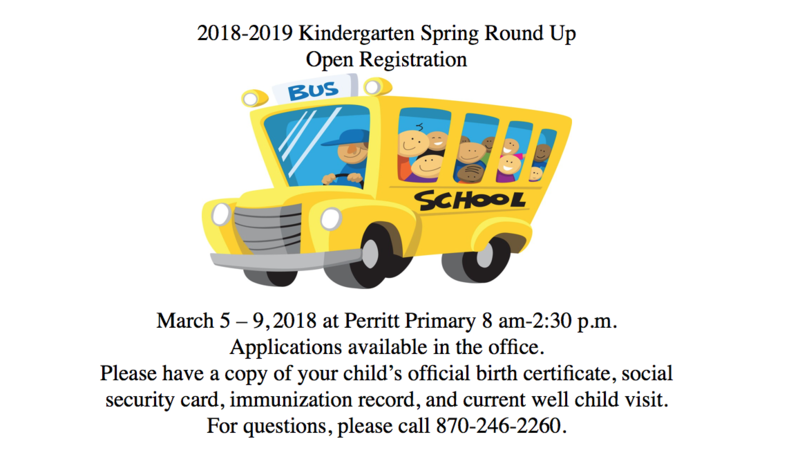2018-19 Kindergarten Registration open March 5-9