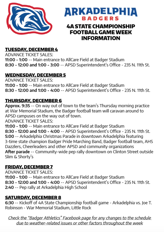 4A State Football Championship Information: Game Week and Game Day Details