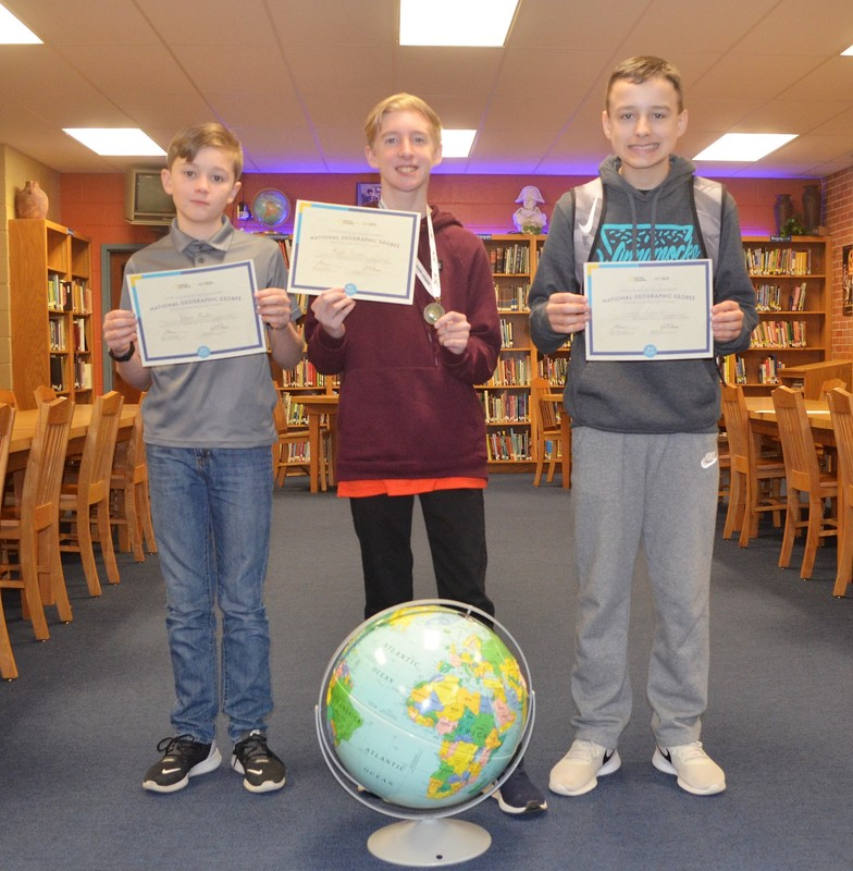 Raney Wins Goza Geographic Bee